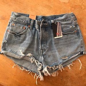 Levi's Original Medium wash 501 shorts